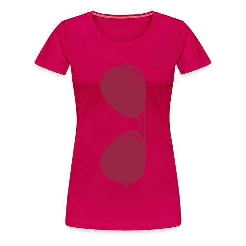 Sunglasses Vector Custom Aviators - Women's Premium T-Shirt
