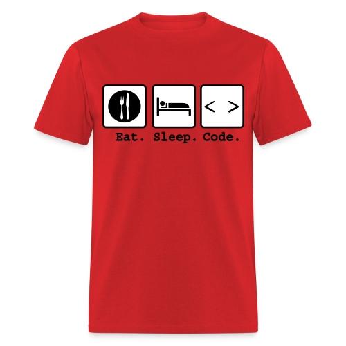 Eat Sleep Code! - Men's T-Shirt