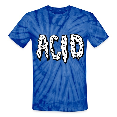 Dripping Acid- Unisex Tie Dye Graphic T-Shirt - Unisex Tie Dye T-Shirt