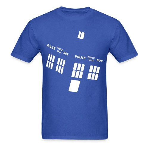 The Tardis- Men's Graphic T-Shirt  - Men's T-Shirt