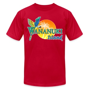 His Wananuki Island Day - Men's T-Shirt by American Apparel