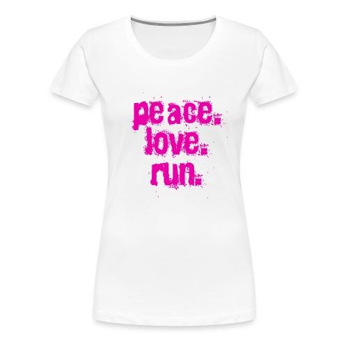 Peace, love, Run! - Women's Premium T-Shirt
