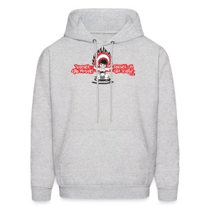 Men's Hooded Sweatshirt - SE 45 Logo with Text on Back - Men's Hoodie