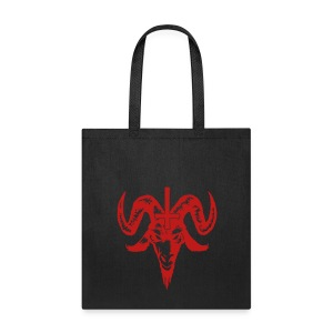 red glitter goat head tote bag - Tote Bag