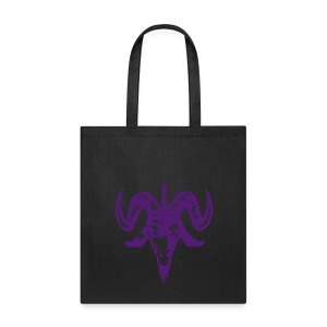 purple glitter goat head tote bag - Tote Bag