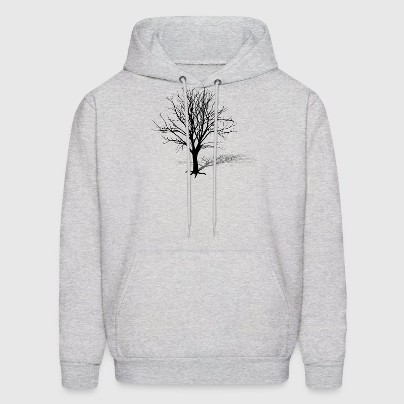 tree log shadow autumn winter silhouette wood Hoodies - Men's Hoodie