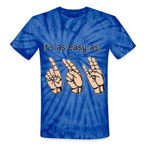 Easy as 123- Unisex Graphic Tie Dye T-shirt - Unisex Tie Dye T-Shirt