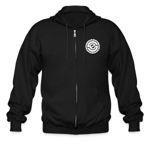 Men's Zipper Hoodie - Phat Fu Logo on Back - Men's Zip Hoodie