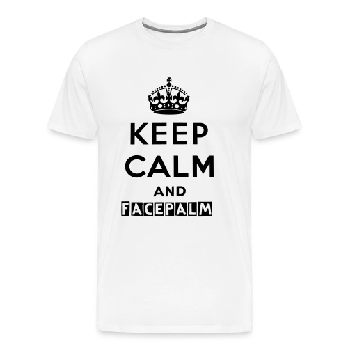 Facepalm mens tee - Men's Premium T-Shirt