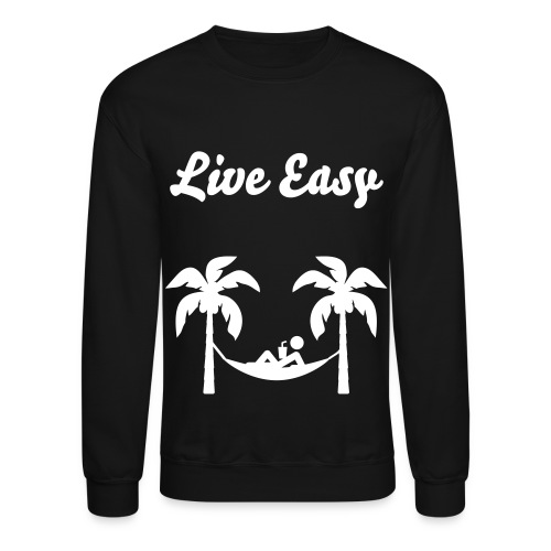 Live Easy Palm Tree Crew Neck - Crewneck Sweatshirt