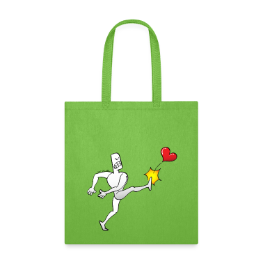 Man Kicking a Heart Bags & backpacks