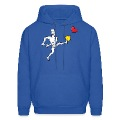 Man Kicking a Heart Hoodies