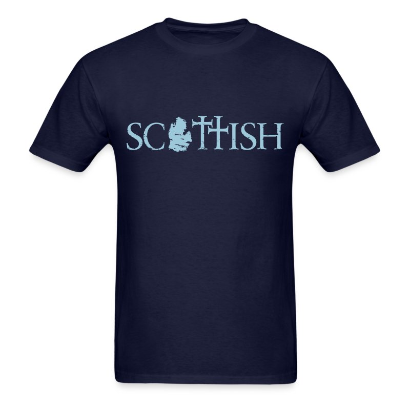 Scottishigan Navy w/ Blue - Men's T-Shirt