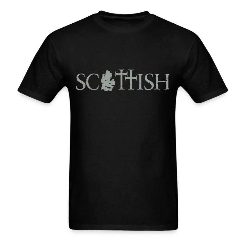Scottishigan - Black w/ Silver - Men's T-Shirt