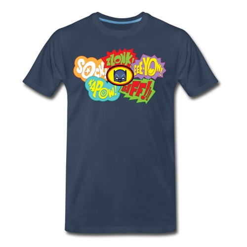 Bat Fight! Men's Navy - Men's Premium T-Shirt