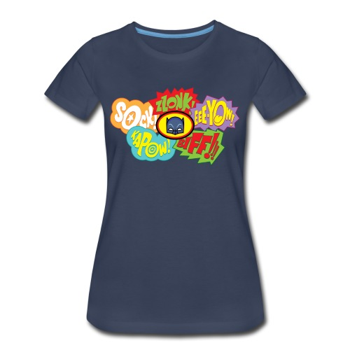 Bat Fight! Women's Navy - Women's Premium T-Shirt