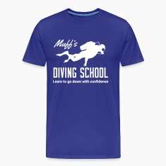 Muff's Diving School. Go down with confidence T-Shirts