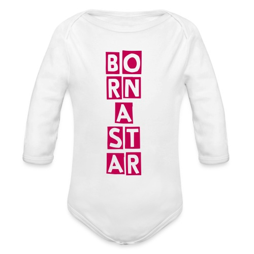Born a STAR - Organic Long Sleeve Baby Bodysuit