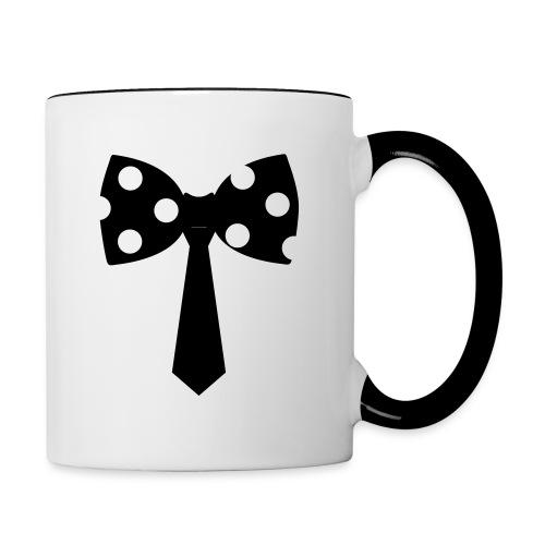 Contrast Coffee Mug - #tie #bow