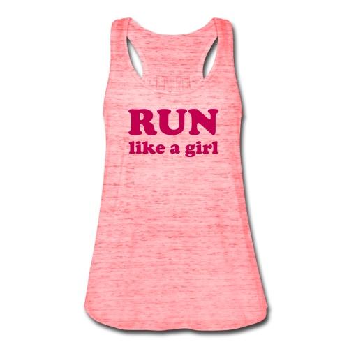 Run Like a Girl Women's Tank - Women's Flowy Tank Top by Bella