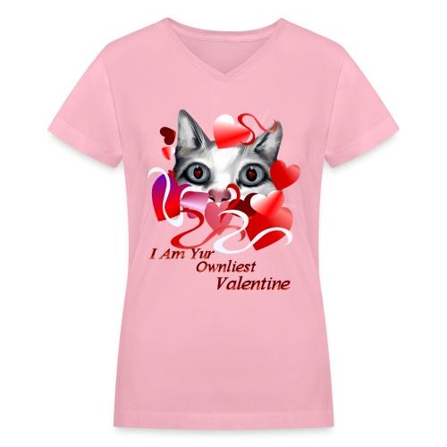 Ownliest Valentine - Women's V-Neck T-Shirt