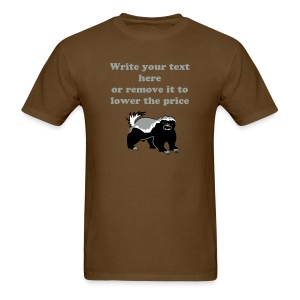 Valentine Day Badger with 3 Editable Design Colors - Men's T-Shirt