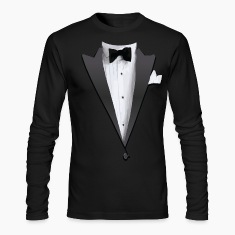 Tuxedo Jacket Costume T-shirt Long Sleeve Shirts