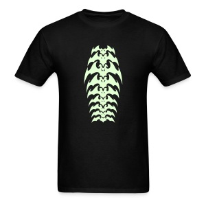 glow in the darl mens bat shirt - Men's T-Shirt