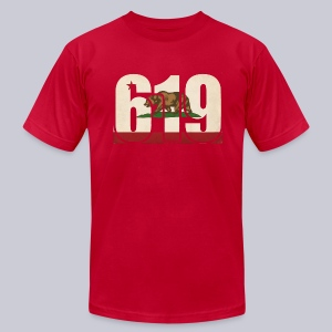 619 Flag - Men's T-Shirt by American Apparel