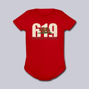 619 Flag - Short Sleeve Baby Bodysuit