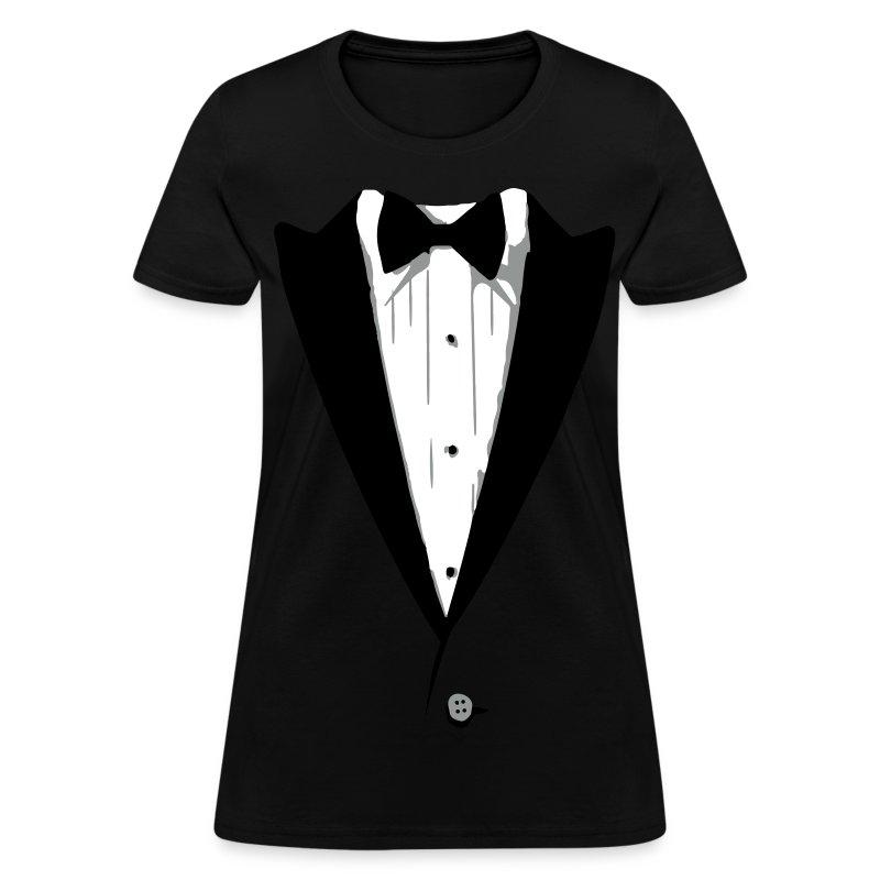 Custom color tuxedo tshirt t shirt spreadshirt for Make your own tuxedo t shirt
