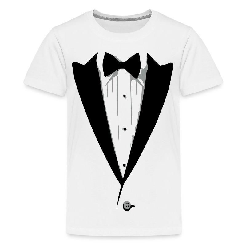Custom color tuxedo tshirt t shirt spreadshirt for Tuxedo shirt vs dress shirt