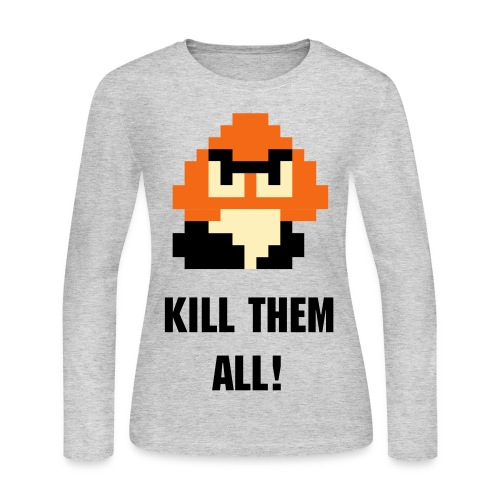 Kill All Koopas CCG Shirt Women - Women's Long Sleeve Jersey T-Shirt