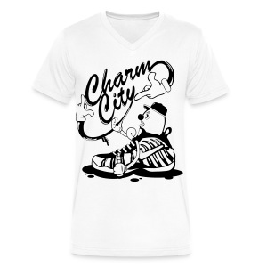 Charm City Foam Character - Men's V-Neck T-Shirt by Canvas
