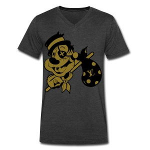 Bmore Rich Hobo Not Less X Eye Boh - Men's V-Neck T-Shirt by Canvas