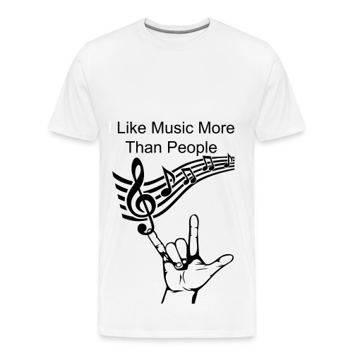 I like music more than rock tee  - Men's Premium T-Shirt