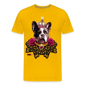 French Bulldog cool King lace collar Roses Dog Design Love Men's T-Shirt - Men's Premium T-Shirt
