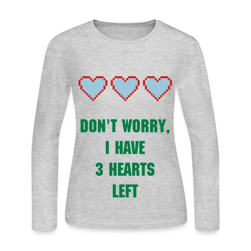 3 More Hearts CCG Shirt Women - Women's Long Sleeve Jersey T-Shirt