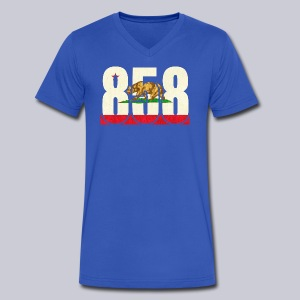 858 Flag - Men's V-Neck T-Shirt by Canvas