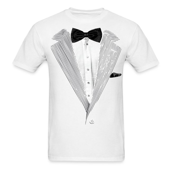 77e635bed MadFunnyTshirts.com | Tuxedo T-shirt Bow Tie Costume - Mens T-Shirt