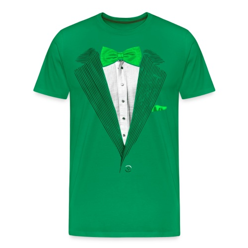 St.Patrick's Day Green Tuxedo Costume - Men's Premium T-Shirt