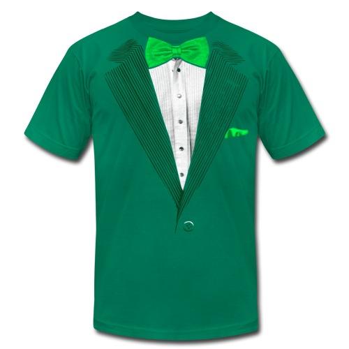 St.Patrick's Day Green Tuxedo Costume - Men's Fine Jersey T-Shirt