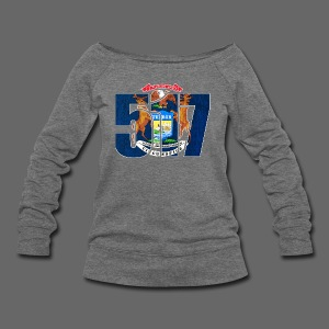 517 MI Flag - Women's Wideneck Sweatshirt
