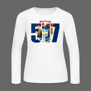517 MI Flag - Women's Long Sleeve Jersey T-Shirt