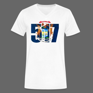 517 MI Flag - Men's V-Neck T-Shirt by Canvas