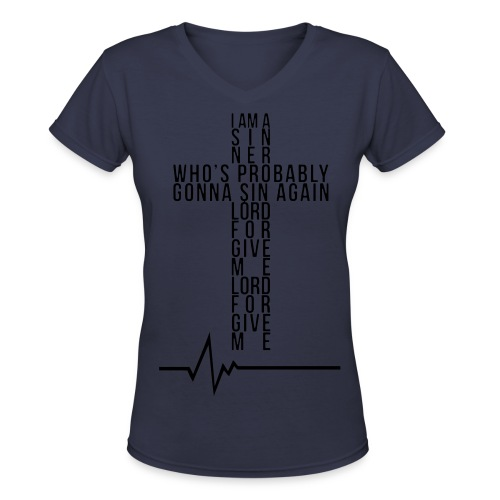 Cross life - Women's V-Neck T-Shirt