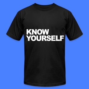 Know Yourself T-Shirts - Men's T-Shirt by American Apparel