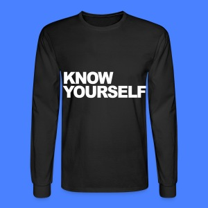 Know Yourself Long Sleeve Shirts - Men's Long Sleeve T-Shirt