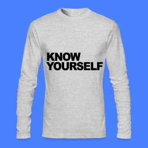 Know Yourself Long Sleeve Shirts - Men's Long Sleeve T-Shirt by Next Level