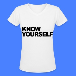 Know Yourself Women's T-Shirts - Women's V-Neck T-Shirt